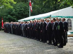 Aarhus Borgerlige Skydeselskab 111 mand til paraden 14. juni 2011