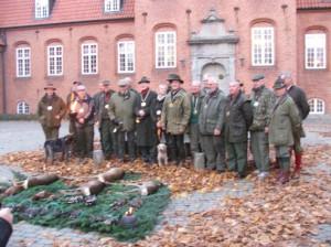 Alle jægere ved vildparaden 5. november 2011.
