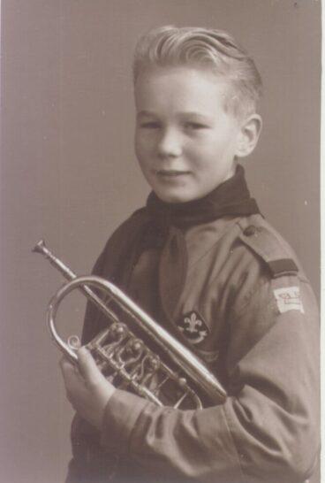 Spejder med trompet