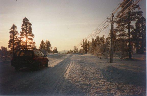 Snedækket vej